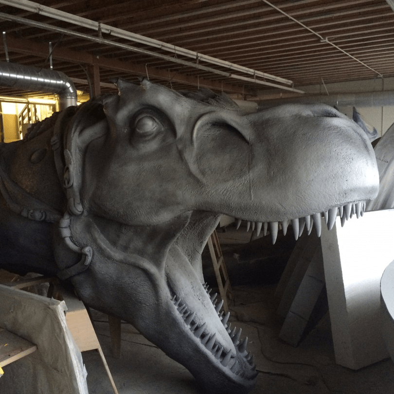 """Ride me or die, human!"" (16-foot T-Rex in the making for PAX EAST)"