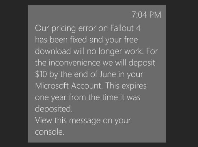 Xbox Message