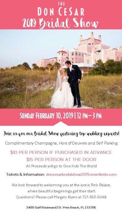 St Pete Beach Don CeSar Bridal Show | Sunday, February ...