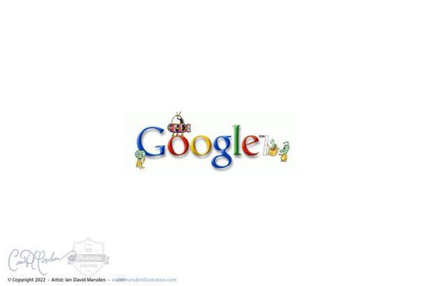 UFO Abducts Google Logo
