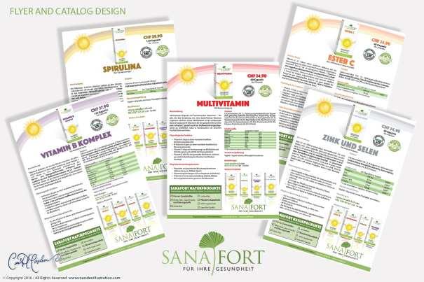 Ad, Flyer and Catalog Design Sanafort