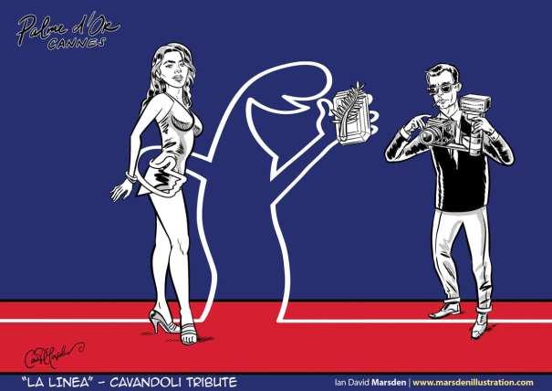 La Linea Cavandoli tribute by artist Ian David Marsden