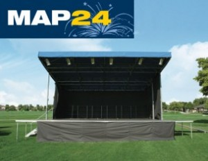 Mobile Stage Design and Manufacturing by Marshall Austin MAP24 Mobile Stage