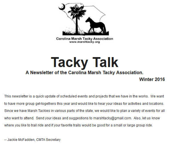 Tacky Talk - Winter 2016