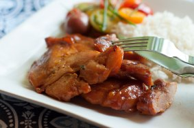Chicken Tocino with Rice