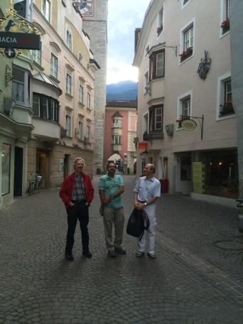 Peter Dalgaard, Deepayan Sarkar and Martin Maechler in Brixen