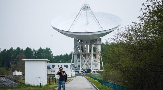 新緑の高原から巨大電波望遠鏡へ