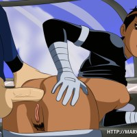 Maria Hill rock hard pulverized in her taut butt hole