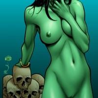 Gamorra - nude but still dangerous!