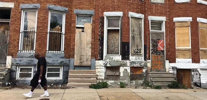 Baltimore-Sandtown-Rowhouses
