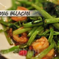 Fried Kangkung with belacan