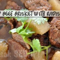 Cantonese Braised Beef Brisket with Radish