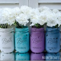 Painted Mason Jars for Spring