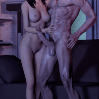 Miranda Lawson always liked big cocks... even if it's not Shepard's one