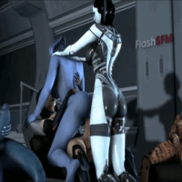 Beautiful asari Liara gets dual smashed by futa Miranda and EDI (while Samara and Wank witnessing and jack)!