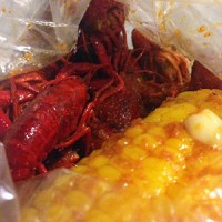 crawfish with corn