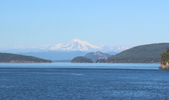 A view of Mt. Baker from the ferry that shuttled us between the San Juan Islands