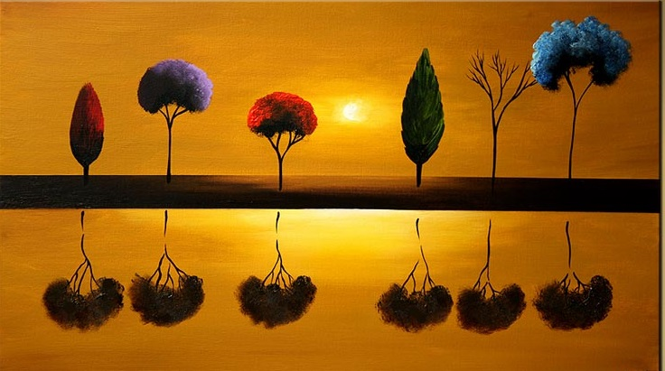 11-12-abstract-painting-of-different-trees-reflected-in-water