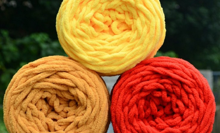 DIY-Hot-Soft-Knitting-Chunky-Towelling-Wool-Ball-Skein-Scarf-Yarn-Pure-Color-Cute-100g-80465