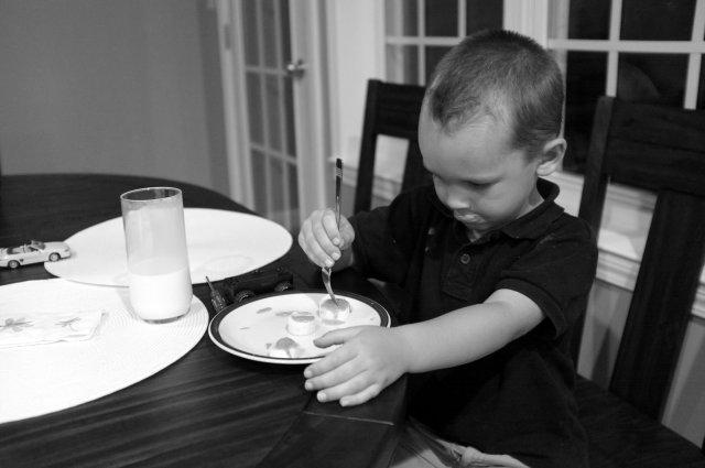 The Boy having his evening snack