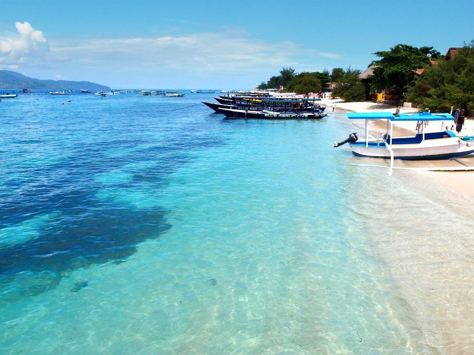 Gili Trawangan港口-巴里島自由行-吉利島