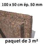 Liège expansé en panneaux 500 x 1000 mm ép 50 mm