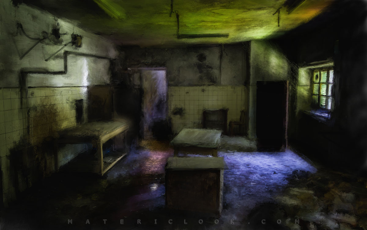 Matericlook The Kitchen Urbex Art Photography Digital Painting