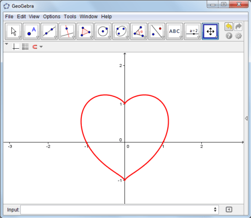 geogebra heart graph