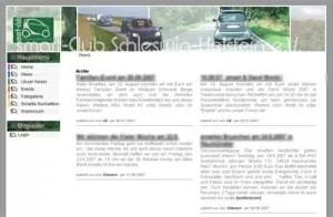 Screenshot smart Club SH Webseite Stand 2006