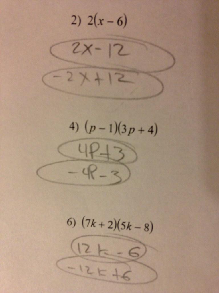 Math Mistakes - Heather