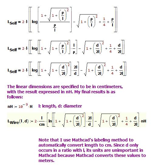 Figure 6: Derivation of a Common Alternative Form of Rosa's Formula.
