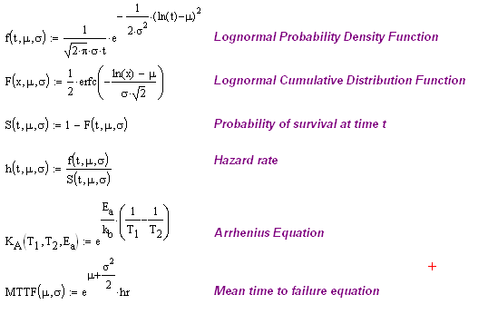 Figure 2: Mathcad Implementation of Equations.