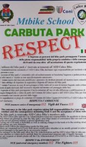 Cartello Carbuta park