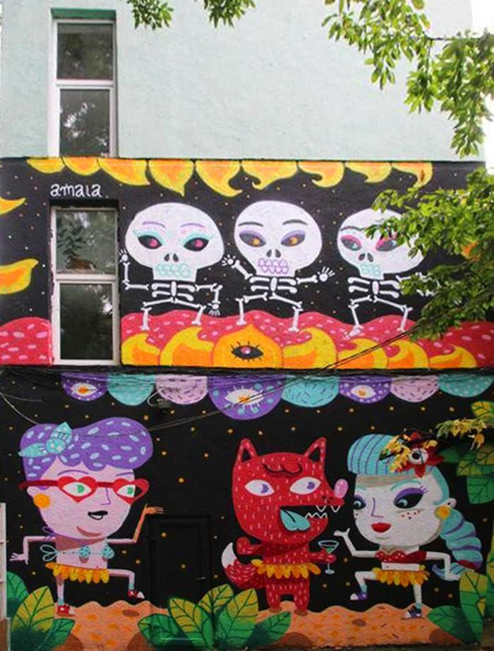 Mural realizat în cadrul Festivalului de profil de la Timișoara