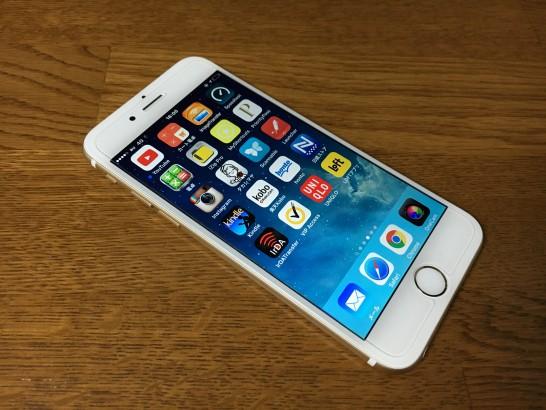 mineoのSIMを挿したiPhone 6