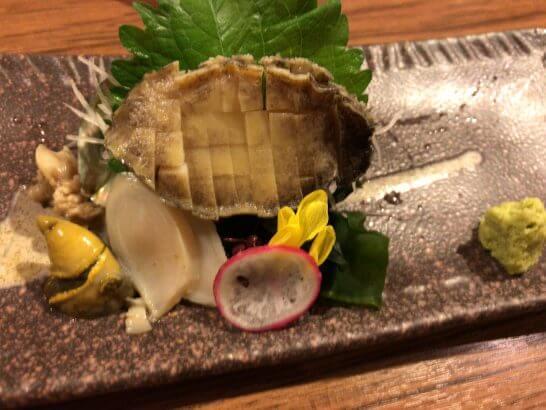 コロワイドの北海道のアワビの刺身