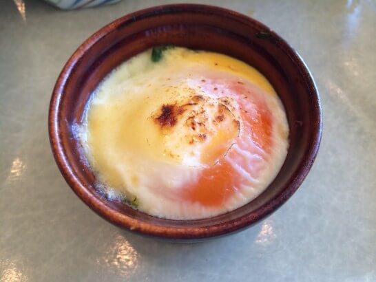 鎌倉プリンスホテルの朝食のポーチドエッグ