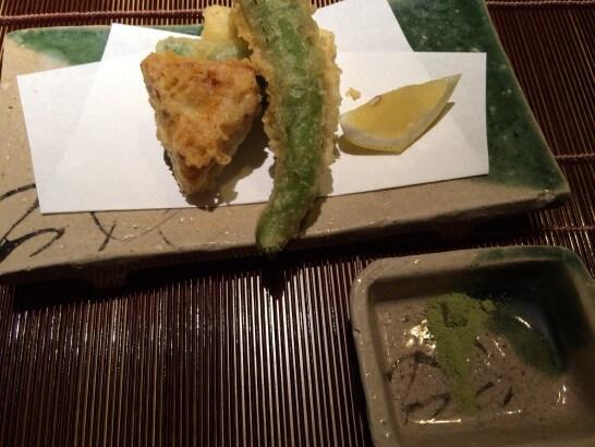 界伊東の夕食の天ぷら