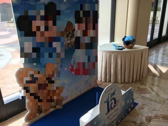 ホテルオークラ東京ベイのディズニーの看板との撮影ゾーン