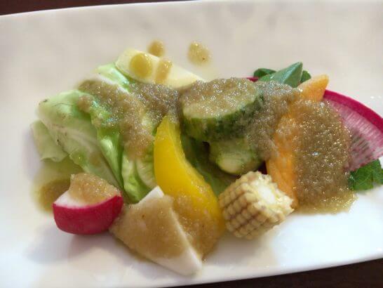 RISTORANTE REGAの野菜のバーニャカウダソース