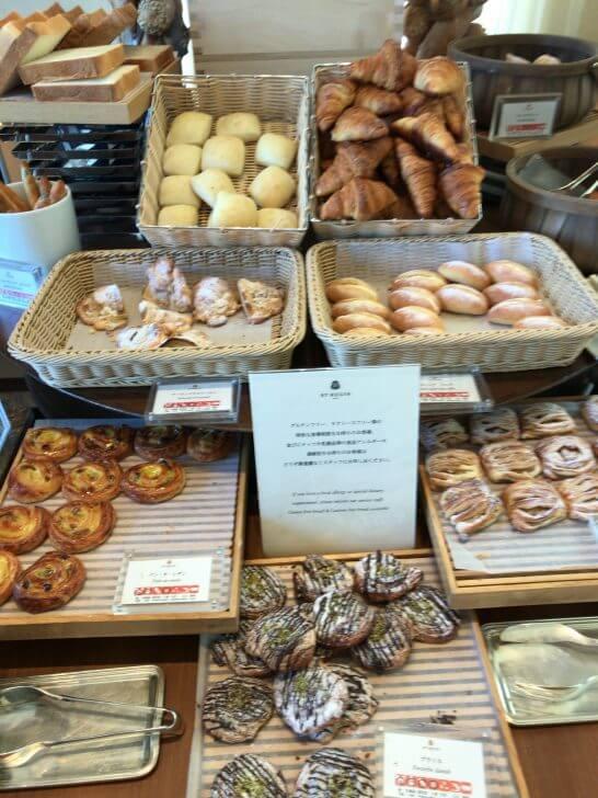 セントレジスホテル大阪の朝食のパン