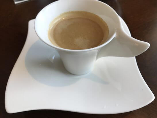 セントレジスホテル大阪のホットコーヒー