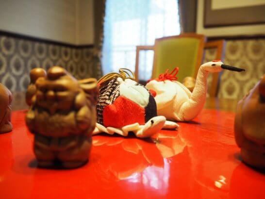 長寿のシンボル「鶴と亀」