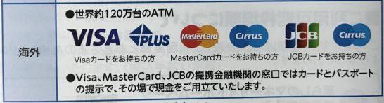 イオンカードで海外キャッシングが可能なATMの種類