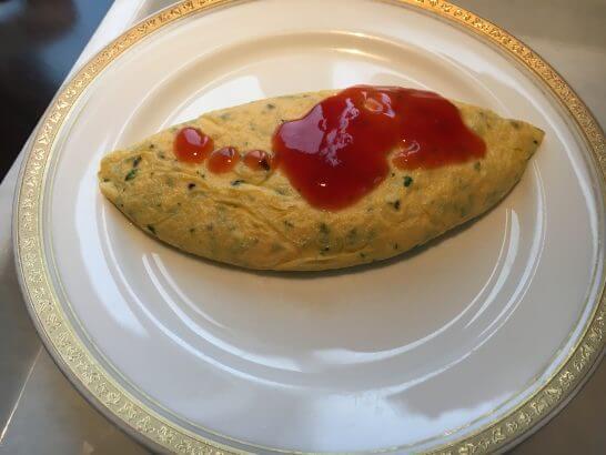グランドニッコー東京 台場(旧ホテル グランパシフィック LE DAIBA)の朝食のオムレツ