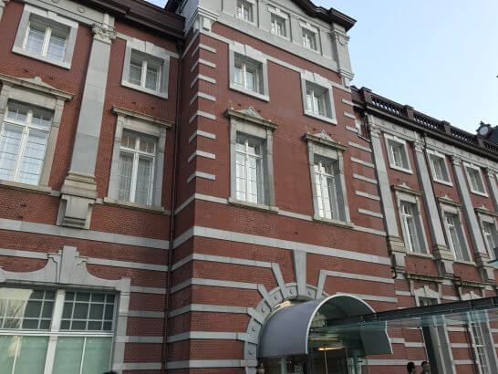 東京ステーションホテルの入口