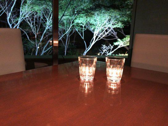 シェラトン都ホテル東京の四川のキャンドル