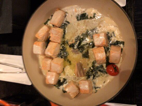 シャングリ・ラ ホテル 東京のホライゾンクラブラウンジの鮭の煮物