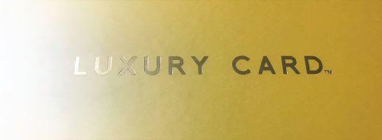 ラグジュアリーカードが入った箱の「LUXURY CARD」という文字
