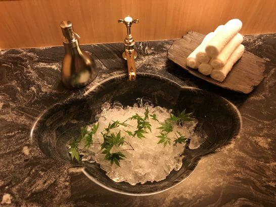 銀座小十のトイレ